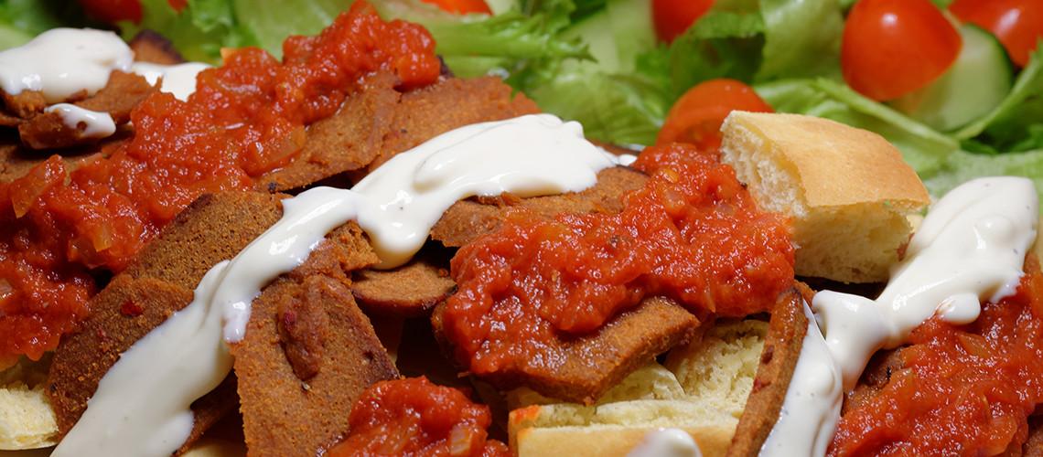 Vegaaninen İskender-kebab